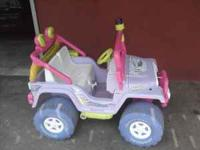 Battery Operated Barbie Jeep. New battery and charger