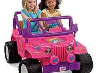 like new Barbie Jeep power wheels got for my daughter's