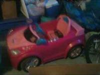 Pink Barbie car! Battery needs to be replaced. Can