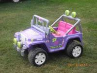 Barbie power wheels for sale. Like new condition; new