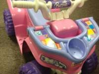 Barbie power wheels $49.99. Great condition.