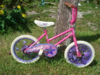 Barbie Star bike 16 inch tires, white tires Coaster