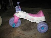 nice barbie trike. has recall repaired and ready for