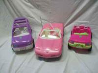 Barbie vehicles (sized for Barbie dolls to ride in)