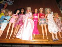 Barbies 2.00 each. Barbie cars 5.00 each, Barbie