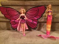 4 barbies for $20 4 bratz for $20 1 fairy with 1