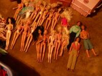15 Barbies, 3 Kens, Skipper, Barbie babies, 75-100