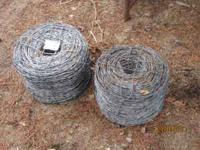Two brand new rolls of barbwire. One 4 point and one 2