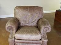 The Longhorn ll Leather Recliner in Chaps Saddle, is a