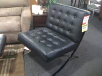 "Come by and check out these 2 ""Barcelona"" Style chairs."