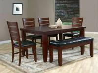 Today's price: $498.00   Description:  Table & 4 Chairs