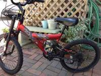 BARELY USED BOYS BIKE. MY 11 YEAR OLD SON HAS THE EXACT