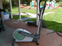For sale is a barely used Weslo Elliptical Machine. Its