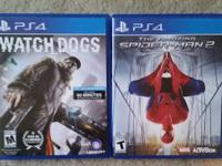 Hey there I have a Watchdogs and Amazing Spiderman 2