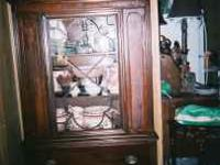 french country china cabinet. nice piece. please email,