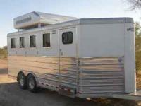 2009 Bloomer 4 horse bumper pull. Rear tack with 4