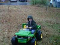 Got a barely driven John Deere Gator. My son got it