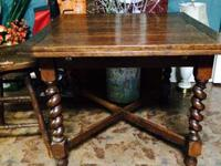 We are providing an english barley leg pub table. 59""
