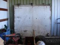 We have two Barn Doors with tracks, 8' wide and 7'