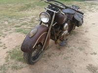 Barn find indian chief 1947. wheel bearing have been