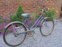 1979 GALAXY FLYER WOMANS BIKE,BLUE.MISSING FRONT