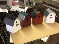 Barn shaped bird house made from  22 gauge  metal. Will