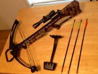 Barnett quad 400 crossbow. New string, scope and rage