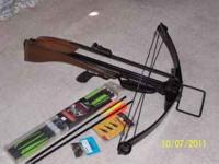 This crossbow is in great condition, and includes 6