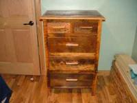 New, Barn wood dresser. $300, compare at lonesome