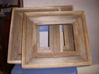 holds 8x10 pictures, no glass, heavy, old barnwood