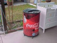 Great Barrel Cooler on Wheels Great for Parties Asking