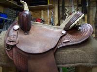 "great 15"" barrel racing saddle by Lamb saddle co."