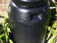 Good old Pickel Barrels !!! Holds 55 - 60 gallons !!!