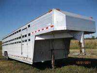 28x8, DOUBLE AXLE, 2 FLOATING ADJUSTABLE GATES FULL