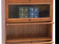 I have a nice 4-shelf oak barrister bookcase. New sells