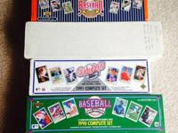 Six sets of baseball cards:.  1989 Upper Deck
