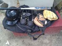 Baseball Bag with Bat Compartment,Aluminum bat,Two
