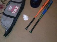Louisville Slugger bag (like new)  , 2 Easton bats , 1