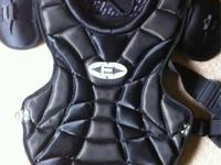 Nearly new Easton Stealth Adult breast guard and leg