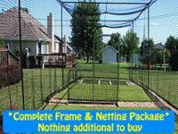 3 SIZES AVAILABLE - 10h x 10w x 40 frame + netting -