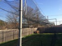 I have a 60 ft. x 14 ft. x 14 ft. batting cage in my