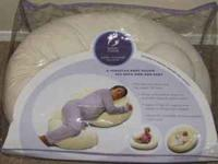 Pregnancy back and tummy support pillow. Prevents