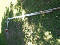 Sturdy Homemade Goal Post needs back board. I had a