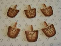Collectible basket buttons removed from a Longaberger