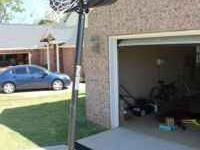Portable basketball goal. Needs minor work (2 screws)