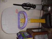 kids basketball hoop, originally red, but I spray