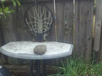 I have a old basketball hoop that I had bolted to my