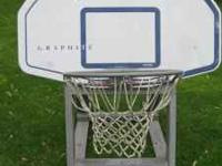 Graphite Basketball backboard, hoop, mounting
