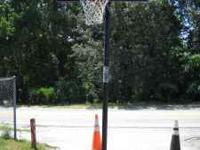 Basketball Hoop with shatter guard protected backboard!