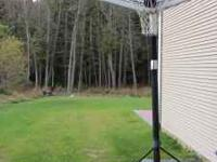 Adjustable height basketball hoop. Good Condition. Call
